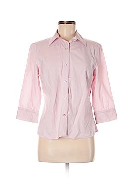 Autograph Long Sleeve Button-Down Shirt Size M