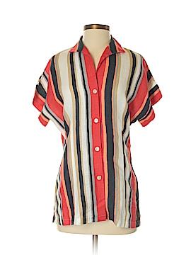 Lafayette 148 New York Short Sleeve Button-Down Shirt Size P