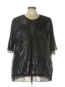 Melissa McCarthy Seven7 3/4 Sleeve Blouse Size 2X (Plus)