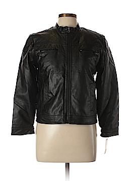 Canyon River Blues Faux Leather Jacket Size L