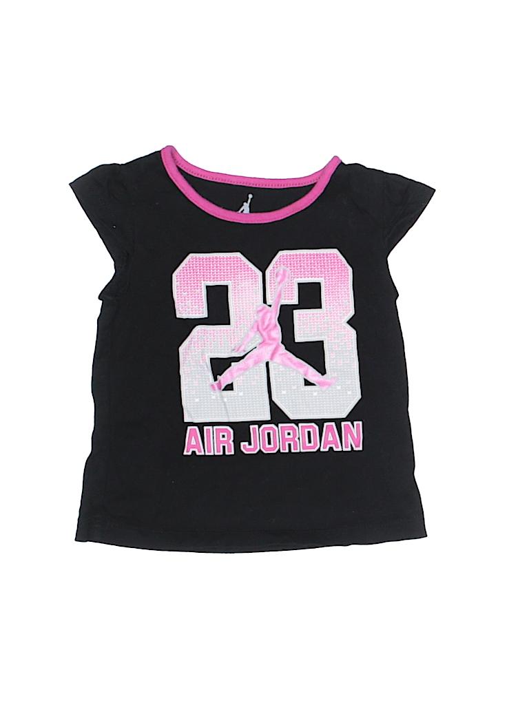 5699ad0c5f10bd Air Jordan 100% Cotton Graphic Black Short Sleeve T-Shirt Size 2T ...