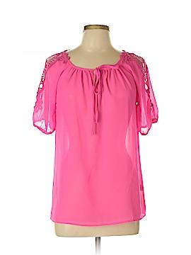 Yansi Fugel Short Sleeve Silk Top Size L