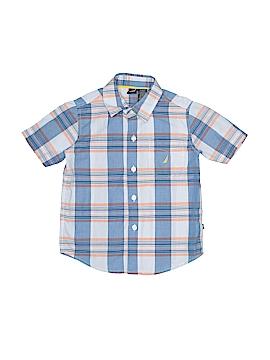 Nautica Short Sleeve Button-Down Shirt Size 3T