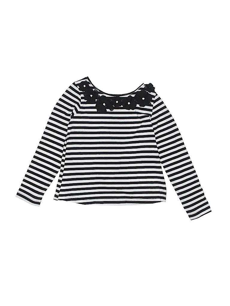 ac12b1df0d73 H M Stripes Black Long Sleeve Top Size 4 - 5 - 60% off