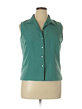 Laura Scott Sleeveless Button-Down Shirt Size 16