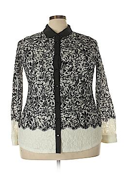 Charter Club Long Sleeve Button-Down Shirt Size 2X (Plus)