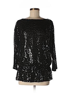 St. John 3/4 Sleeve Silk Top Size M