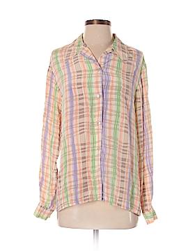 EVELYN & ARTHUR Long Sleeve Silk Top Size S