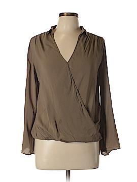 Chocolate Long Sleeve Blouse Size M