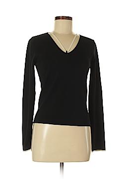 White + Warren Long Sleeve Silk Top Size M
