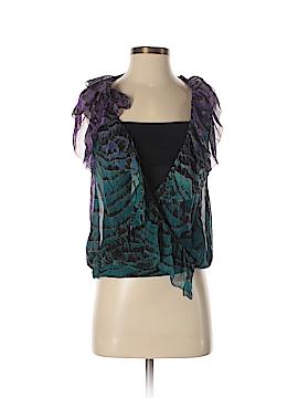 Diane von Furstenberg Short Sleeve Silk Top Size 0