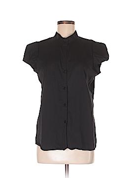 Norma Kamali for Walmart Short Sleeve Button-Down Shirt Size M