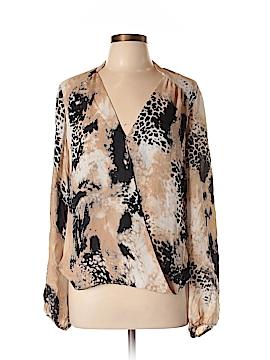 Chelsea Flower Long Sleeve Silk Top Size L