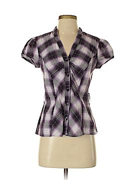 A. Byer Short Sleeve Button-Down Shirt Size M