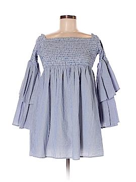 Aqua 3/4 Sleeve Button-Down Shirt Size M