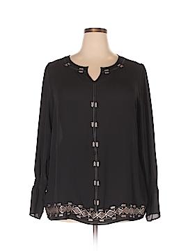 Rafaella Long Sleeve Blouse Size 1X (Plus)
