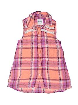 Mudd Girls Sleeveless Button-Down Shirt Size 7-8