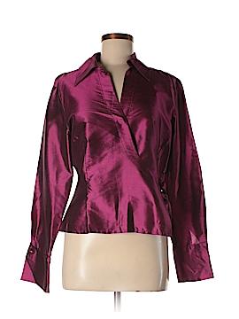 Sunny Leigh Long Sleeve Silk Top Size 12