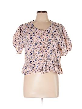 Fashion Fuse Short Sleeve Button-Down Shirt Size L