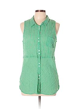 C&C California Sleeveless Button-Down Shirt Size L