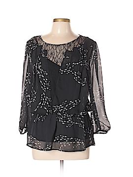 Black Rainn 3/4 Sleeve Blouse Size L