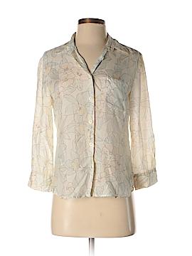 Emporio Armani 3/4 Sleeve Silk Top Size 40 (IT)