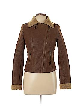 Love Stitch Faux Leather Jacket Size M