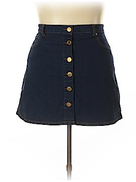 City Chic Denim Skirt Size 16 PlusW (Plus)