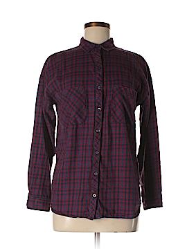 Zara TRF Long Sleeve Button-Down Shirt Size S