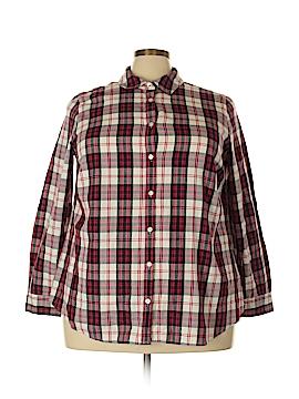 Charter Club Long Sleeve Button-Down Shirt Size 18W (Plus)