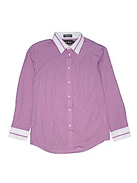 Retro Long Sleeve Button-Down Shirt Size 16