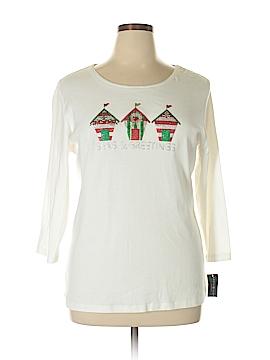 Karen Scott 3/4 Sleeve T-Shirt Size 1X (Plus)