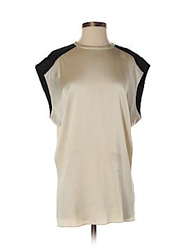 Helmut Lang Short Sleeve Silk Top Size P