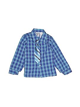 Happy Fella Long Sleeve Button-Down Shirt Size 4T