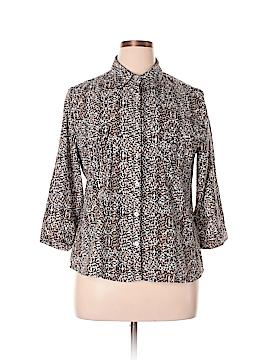 Laura Scott 3/4 Sleeve Button-Down Shirt Size XL