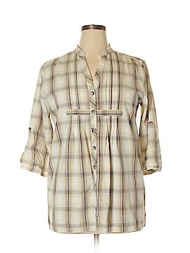 Relativity 3/4 Sleeve Button-Down Shirt Size XL (Petite)