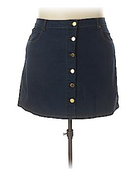 City Chic Denim Skirt Size 24 Plus (XL) (Plus)