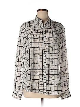 Greylin Long Sleeve Silk Top Size L