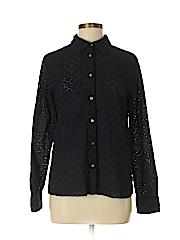 Talbots Women Long Sleeve Button-Down Shirt Size M