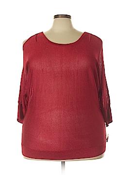 INC International Concepts 3/4 Sleeve Top Size 2X (Plus)