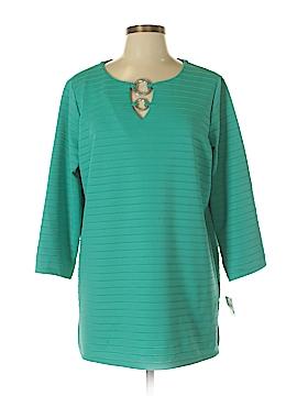 JM Collection 3/4 Sleeve Top Size 0X (Plus)