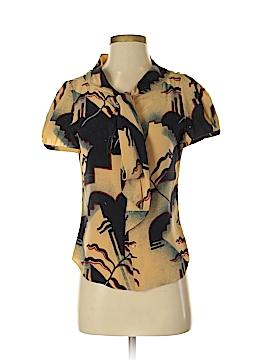 Ralph Lauren Short Sleeve Silk Top Size 2