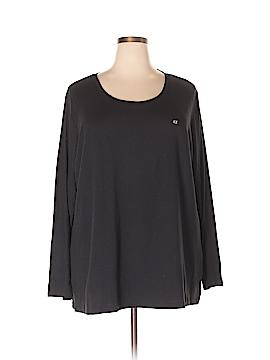 Basic Editions Long Sleeve T-Shirt Size 4X (Plus)