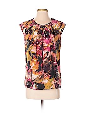 Etcetera Short Sleeve Silk Top Size 2