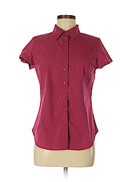 New York & Company Short Sleeve Button-Down Shirt Size M