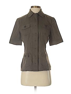 Elie Tahari Short Sleeve Button-Down Shirt Size 4