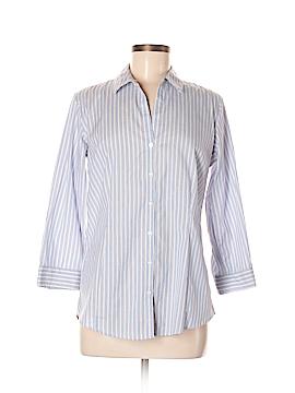 Eddie Bauer 3/4 Sleeve Button-Down Shirt Size M (Tall)