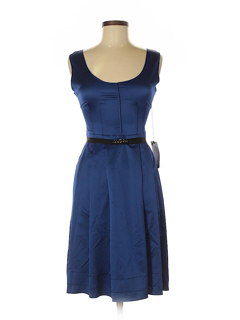 5eb4fc946f Simply Vera Vera Wang Solid Dark Blue Cocktail Dress Size 8 - 70 ...