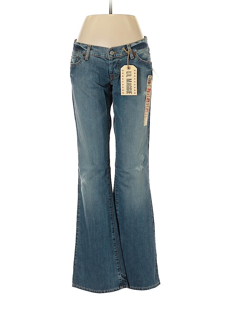 754c8e5b19837 Lucky Brand 100% Cotton Solid Blue Jeggings 29 Waist - 69% off | thredUP