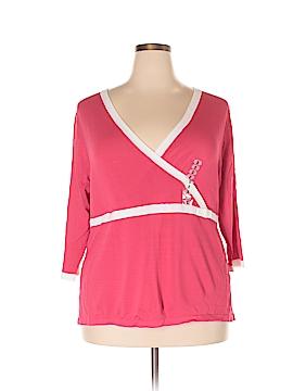 August Silk Short Sleeve Top Size 2X (Plus)